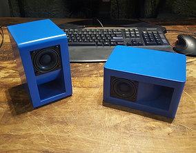 Bookshelf Speaker Box that can be 3D printable model 2