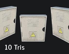 3D model low-poly Utility Box fusebox