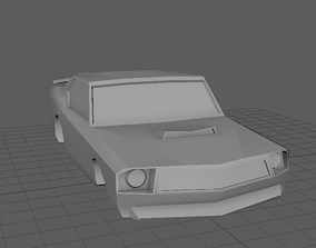 game-ready 3D Low Poly Car