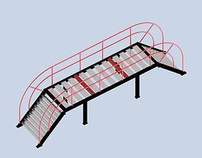 3D print model Simple Steel Stair Bridge