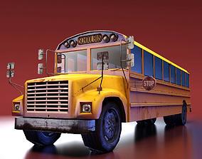 3D model game-ready School Bus school-bus