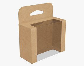 Hanging cardboard display box retail 06 3D