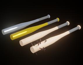 Baseball Bats 3D model game-ready