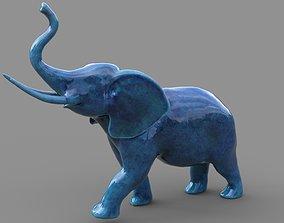 3D asset low-poly Elephant Figurine