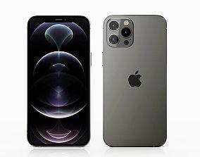 3D model iPhone 12 pro max graphite