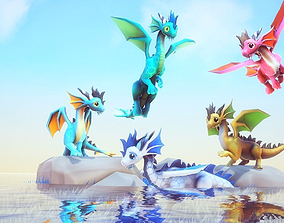3D model Little Dragons Sea