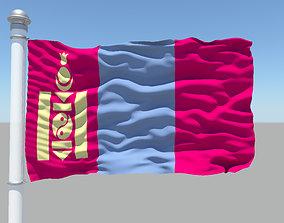 Mongolia flag 3D