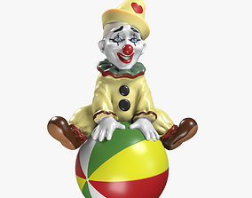 Clown on the Ball 3D Model VR / AR ready