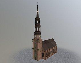 3D asset Hamburg St Katherine Church