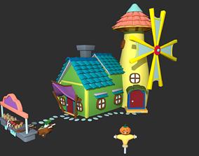 Asset - Cartoons - Background - House 3D