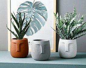 flowerpot face 3D printable model