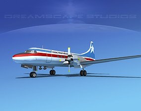 3D model Convair CV-580 Texas Intl