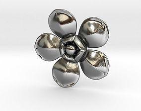 Flower shaped pendant 3D print model