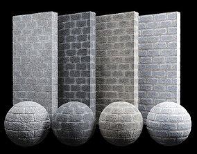 Split Cement Brick Tiles Material PBR 200 x 200 3D asset