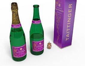 Champagne bottle cork box 3D