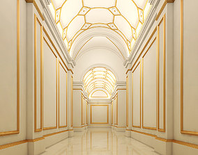 3D model Hallway room