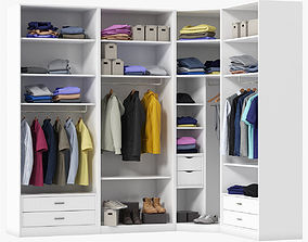 hang 3D Wardrobe with Clothes