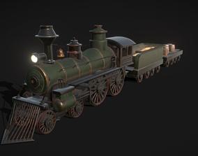 3D asset Train kids toy west scene locomotive