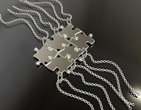 3D print model Puzzle pendants six friends C0-3010085