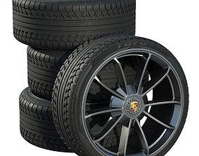 3D model suv Porsche wheels