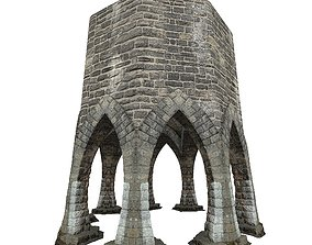 3D model Gatehouse 01 Aqueduct Circle Pillar 03