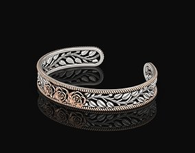 3D printable model Rose Cuff Bracelet 2