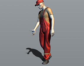 Gas station worker 3D printable model