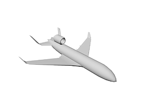 3D model Airplane Low Poly