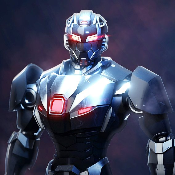 Robot character asset RTS-03