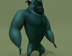 Cartoon Monster Blue Gorilla 3D model