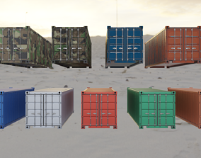 Shipping Container 3D model low-poly