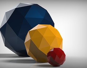 3D printable model Polyhedron - Icosahedron Frequency -