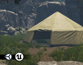 PBR Assets - Camping Tent low-poly