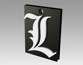 Death note logo pendant suspension Neck 3D print model
