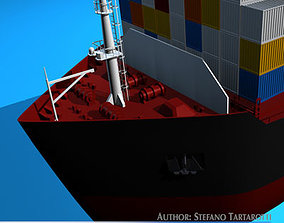 3D model Container ship