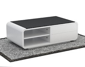 Rounded Coffee Table Model-6 with Carpet salon