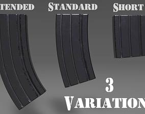 3D asset Ammunition Magazine - Clip - Weapon Attachment -