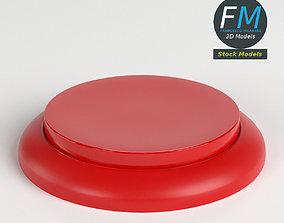 Round button 3D model