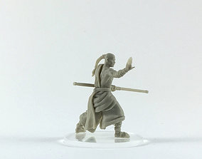 Monk 3D print model - shaolin monk 35mm scale warrior