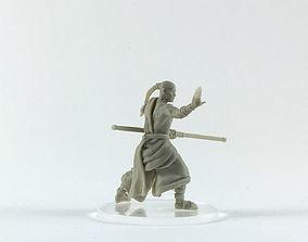 Monk 3D print model - shaolin monk 35mm scale warrior