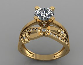 3D print model GC GOLD TW0158- Diamond ring