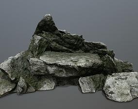 rocks 3D model realtime forest