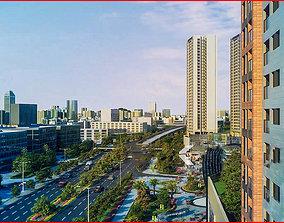 Modern City Animated 128 3D model