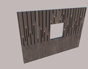 3D asset wooden wall
