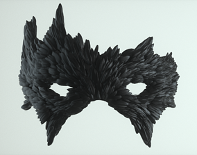 3D print model Carnival Mask - Raven