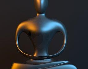 geometric 3D model Statue of monk