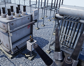 3D model Electric Power Sub Station
