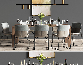 table Dinning Set 3D