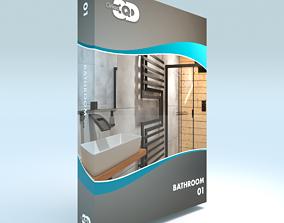 Bathroom 01 3D asset game-ready