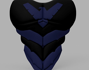 Nightwing Chest Armor with Free Mask 3D printable model